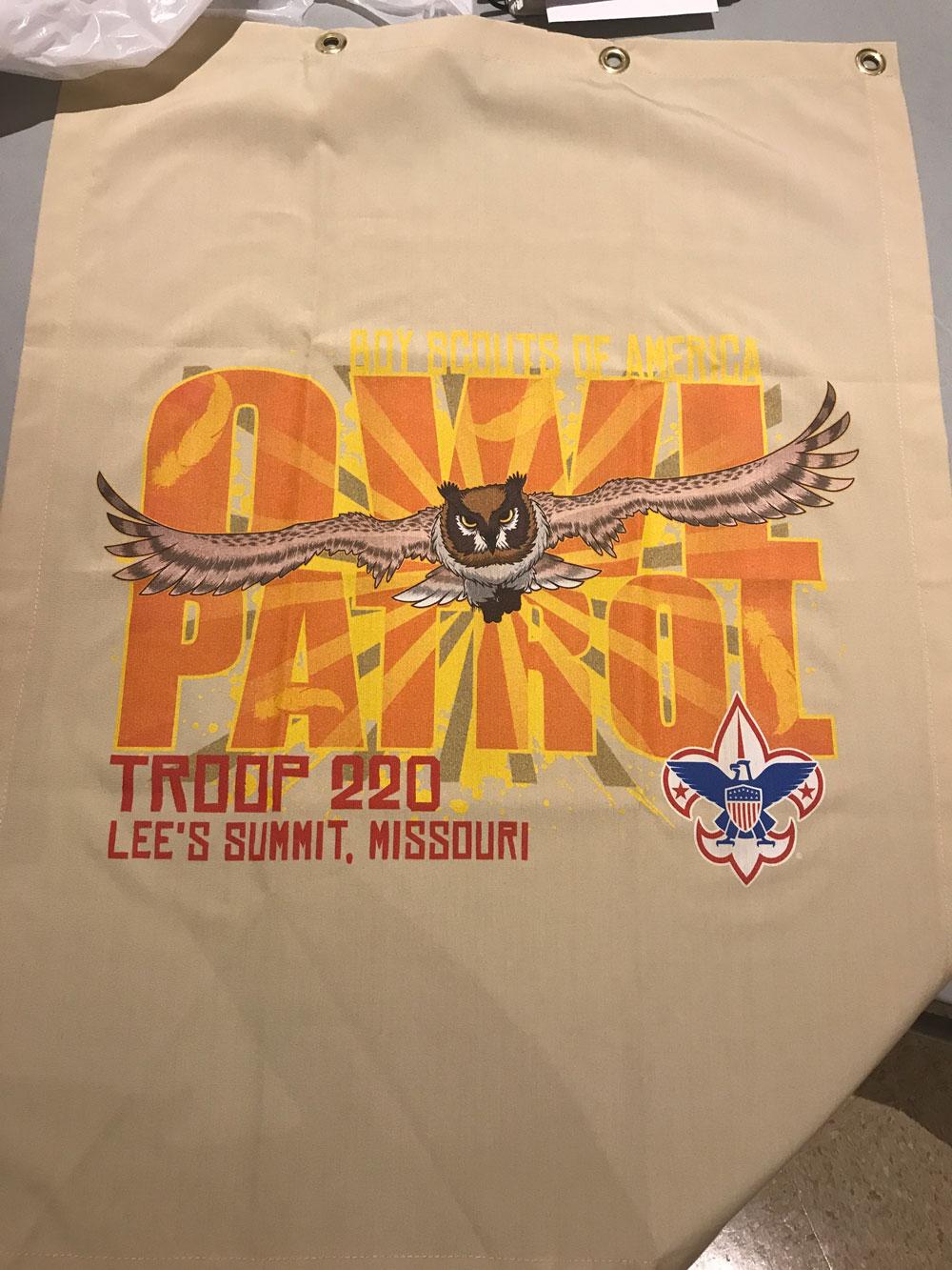 Owl Patrol Flag